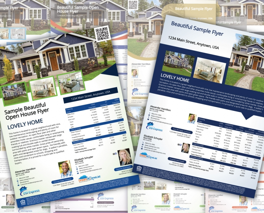 Open House Flyers, House Flyer, REALTOR® Home Listing Flyers, Mortgage Options