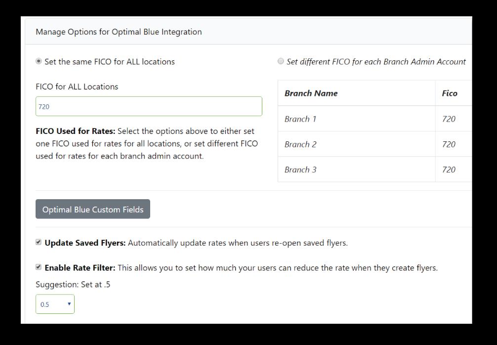 Optimal Blue - FICO Score and Custom Fields in OSI Express