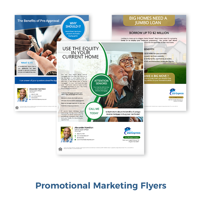 Promotional Marketing Flyers, Loan Officer Marketing, Mortgage Flyers, Mortgage Marketing