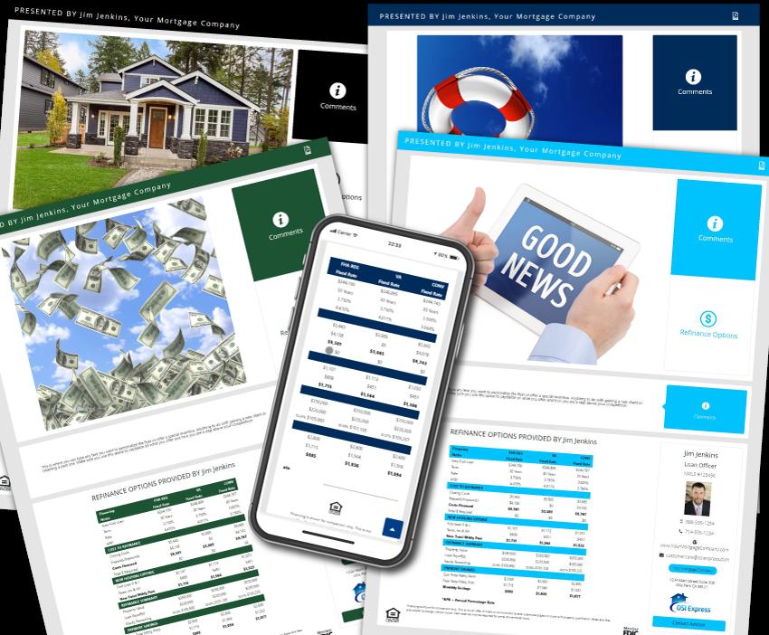 Refinance Calculator Web Page, Mobile Friendly Refi Calculator